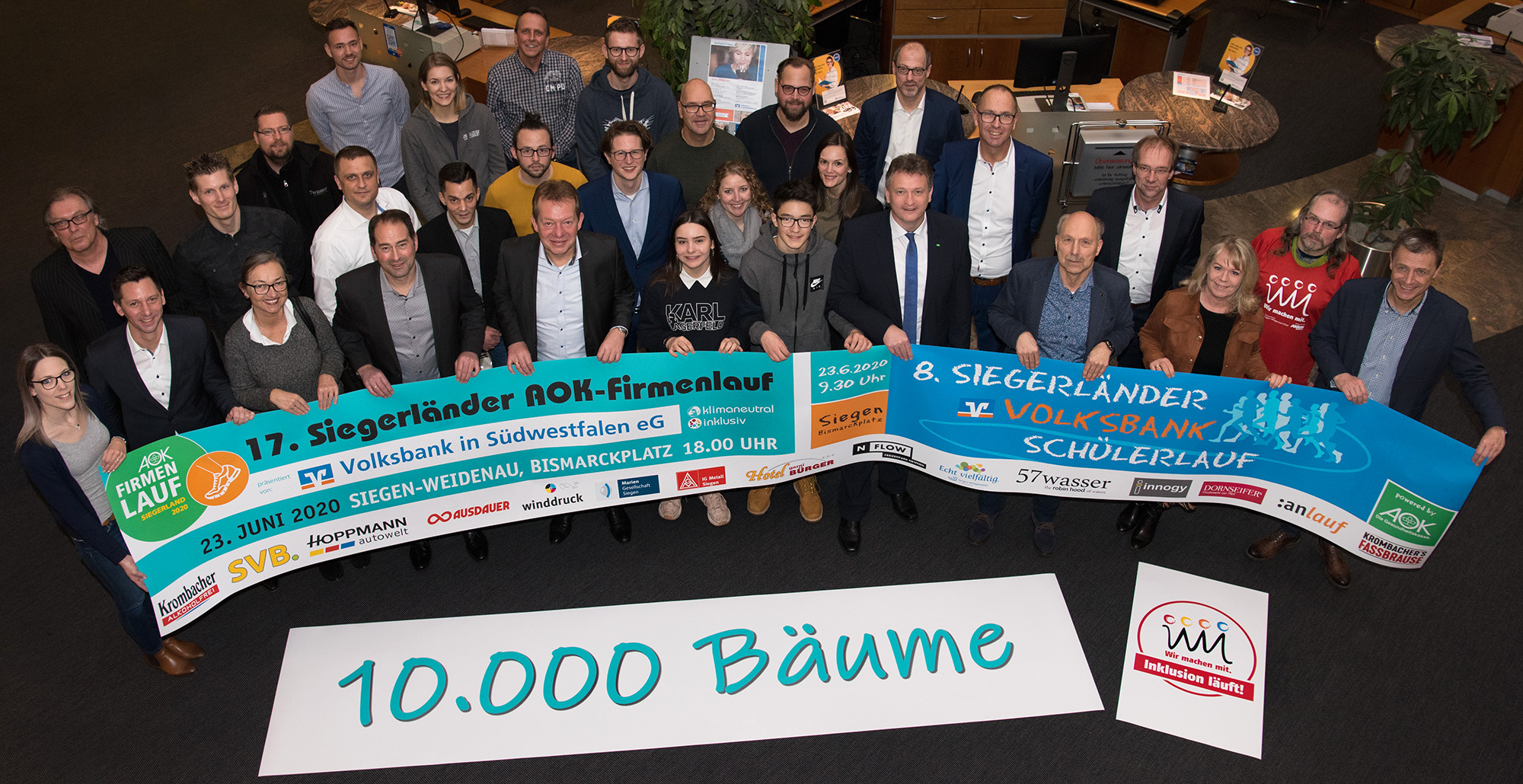 Große Pressekonferenz 17. Siegerländer AOK-Firmenlauf & 8. Siegerländer Volksbank-Schülerlauf 2020